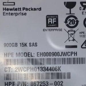 HPE 900GB 12G SFF 15K SAS HDD 868775-002 867253-002