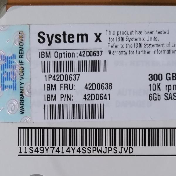 Server Parts IBM 300GB SAS Hard Disk