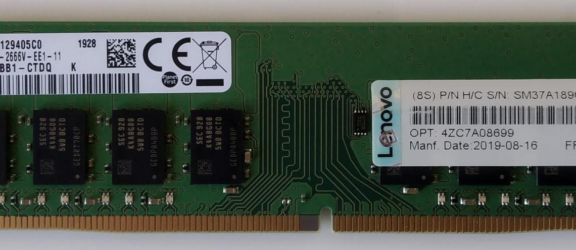 Server Parts Lenovo 16G PC4-2400 ECC UBDIMM www.serverpartsindia.comr